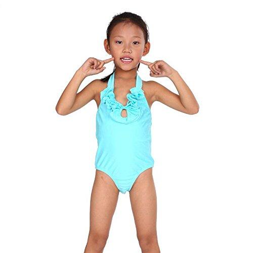 AMYMGLL Kinder Badeanzug Kinder dritten Anzug Anzug Farbe europäischen und amerikanischen Stil Bikini kann Großhandel Light Blue
