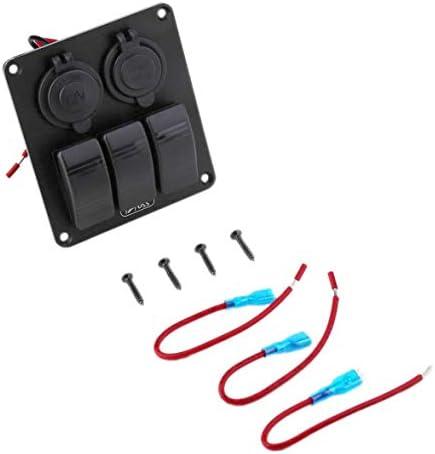 Kongqiabona Voiture Automobile Rouge Unique lumière Chargeur USB LED Interrupteur à Bascule Panneau 3.1A Tension Adaptateur Allume-Cigare Prises de Courant | Pas Cher