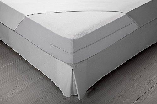 Pikolin Home Bouclé mattress cover, bi-elastic, 135 x 190/200 cm, bed 135