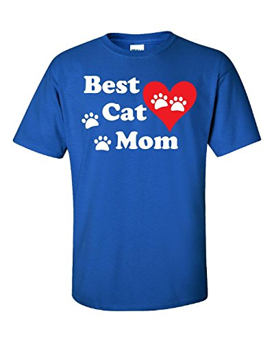 Elagos Best Cat Mom - Adult Shirt Medium (Adult Mom T-shirt)