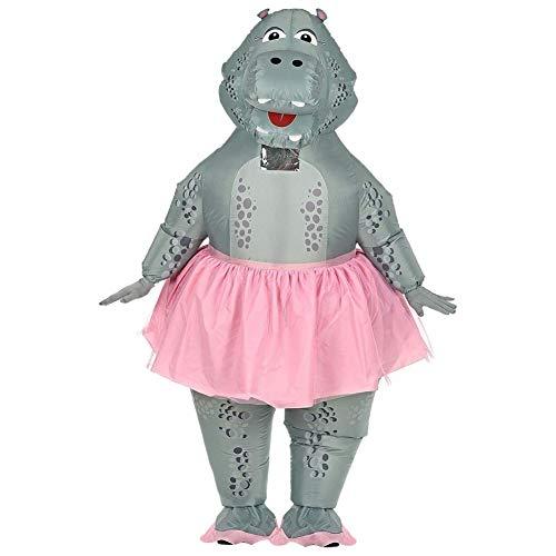 Widmann - Aufblasbares Kostüm Hippo Ballerina (Ballerina Kostüm Für Erwachsene Halloween)