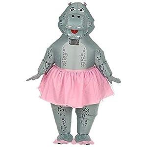 WIDMANN 75513hinchable Hippo bailarina Disfraz, unisex?Adultos, Gris