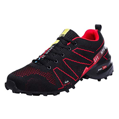 Luckycat Herren Fitness Shoes Luftpolster Sport Mesh Round Toe Sneakers Leichtigkeit Atmungsaktiv Rutschfeste Mode Sneaker Sportschuhe Tubular Shadow Fitnessschuhe Arbeitsschuhe
