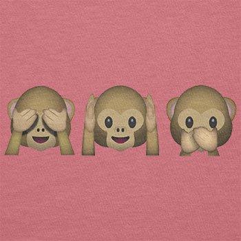 Texlab–Three Monkeys Emoji–sacchetto di stoffa Pink