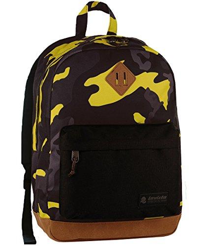 Zaino Invicta Round Pack, Camouflage giallo, 27 Lt, Porta Laptop 13', Tempo libero & Office