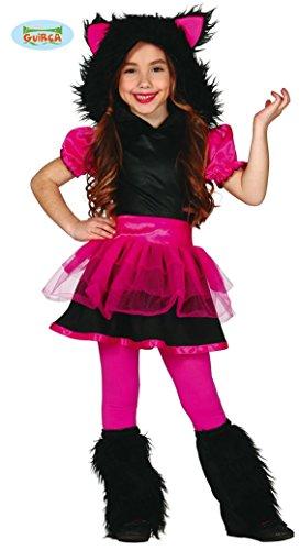 Kostüme Mädchen Halloween Für Wolf (pinkes Wolfsmädchen Kostüm in Gr. 98-134,)