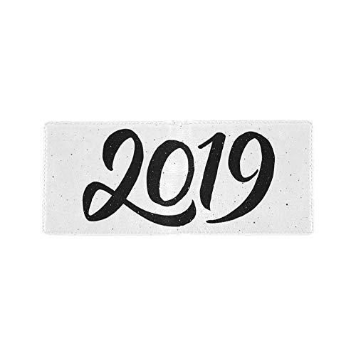 2019 Neujahrsfeier Cool Lether Visitenkarte Münze Id Beutel Reise Clutch Geldbörse Geldscheinklammer Brieftasche Fall Für Mädchen Männer Und Frauen Vordere Tasche Scheckheft