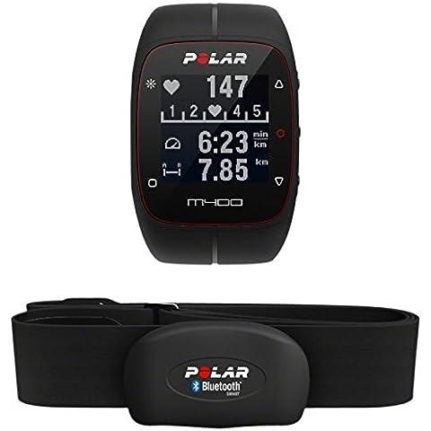 Polar M400 HR - Reloj de entrenamiento con GPS integrado y registro de actividad con sensor de frecuencia cardíaca H7, color