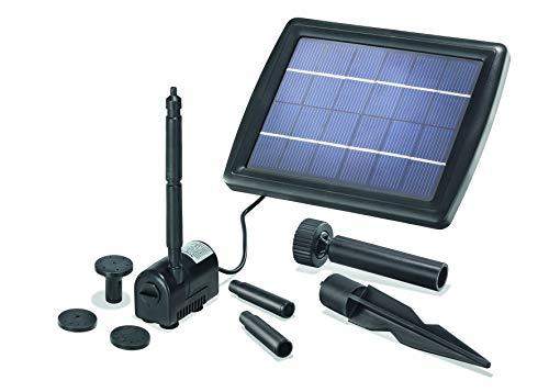 BUVTEC Esotec Solar Gartenteich Teichpumpen Set 175/2 50-70 cm Förderhöhe Komplettset Gartenteich Pumpe mit Solarpanel und Befestigung