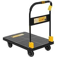 N & S Plataforma carro Heavy Duty 200 kg One mano Arrugas Camiones Cart con Mute Wheels Plataforma de trolley