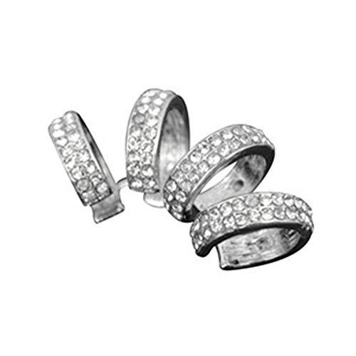 Baumeln 1 Stück Ohrringe Vierbett Ohr Plain Ear Cuff Ring - - Kein Ohrloch (Gold) Tropfenohrringe (Color : Silver) (Plain Cuff Ear)