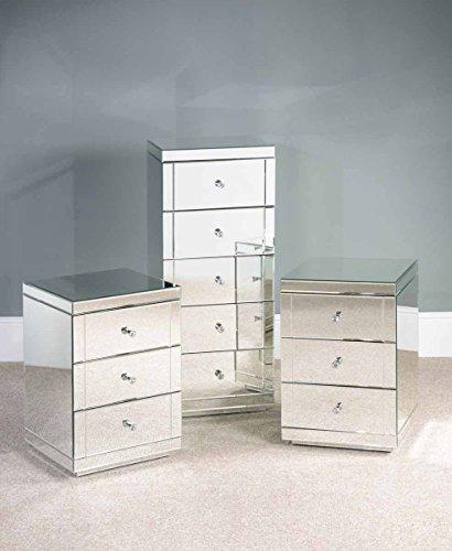 My furniture set di mobili a specchio per la camera da letto 1 toletta 2 comodini 1 - Toletta da camera ...