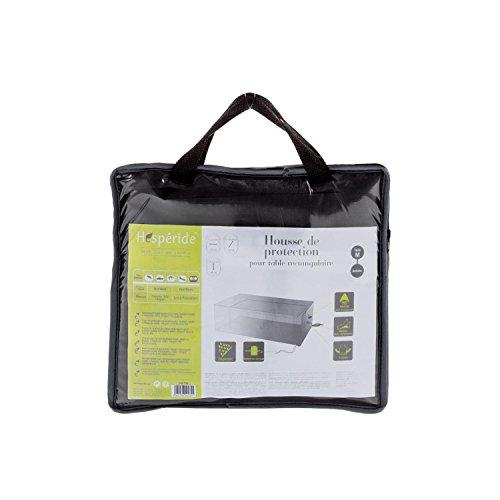 Housse de table rectangulaire M - 225 x 125 x 80 cm - Polyester - Gris