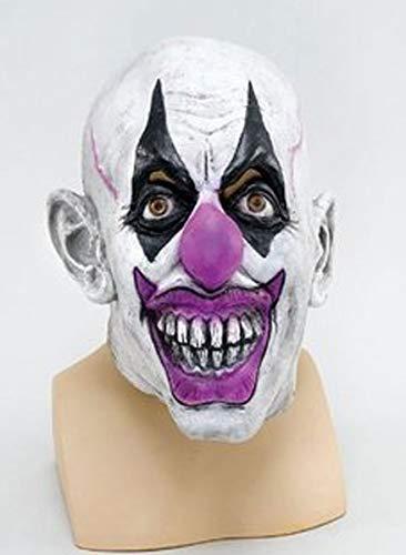 Psycho Joker Kostüm - Gruselige Maske Psycho Clowns, Zirkus-Batman Joker-Erwachsene