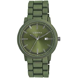 Kahuna Men's Quartz Watch with Green Dial Analogue Display and Green Bracelet KGB-0006G