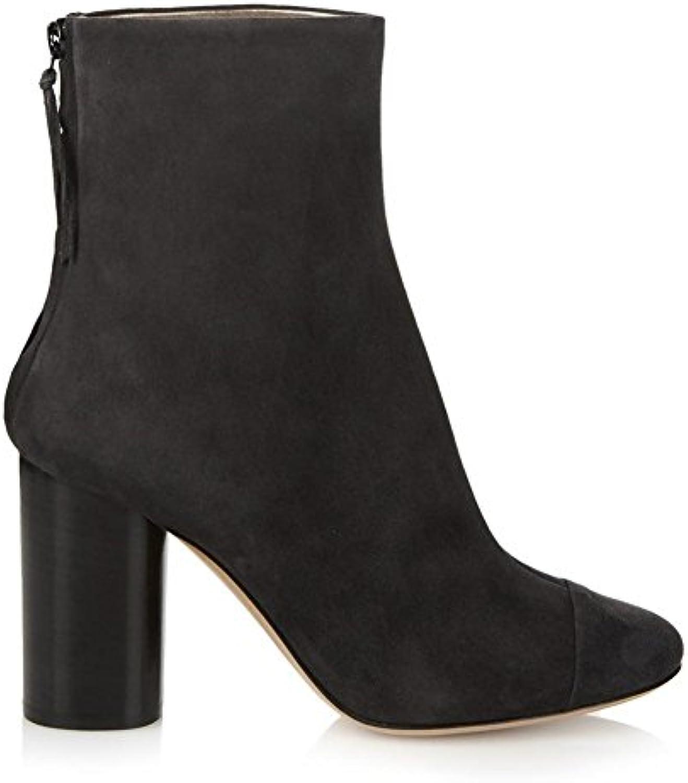 a1ea623520a7 Women Ladies Ankle Boots Rough High Heel Shoes Shoes Shoes Round Head  Comfortable Suede Black Brown Spring Autumn Winter B078D77D5V Parent 36a9d1