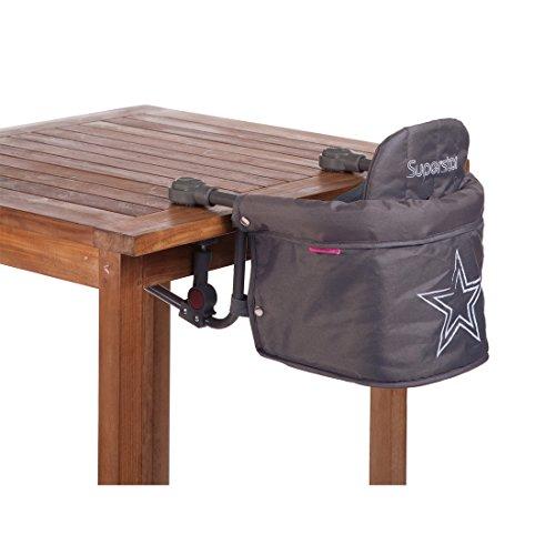 Salut Maman - Childhome- Baby Tischsitz Superstar Mit Sternmuster, 37 x 40 x 35 cm, Grau