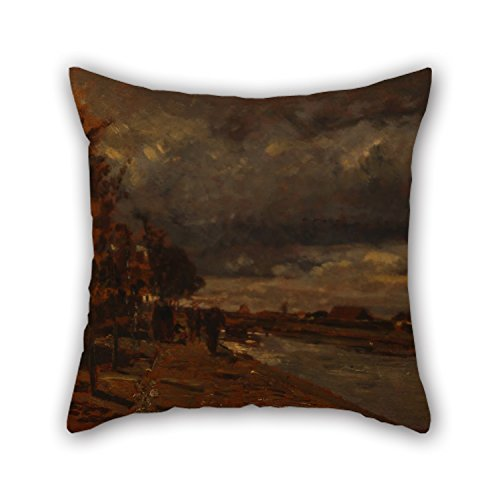 beautifulseason The Oil Painting Tina Blau - Canal in Holland Pillowcase of,16 X 16 Inches/40 by 40 cm Decoration,Gift for Couch,Monther,Lounge,Floor,Bedroom,Boy Friend (Twin Sides) -
