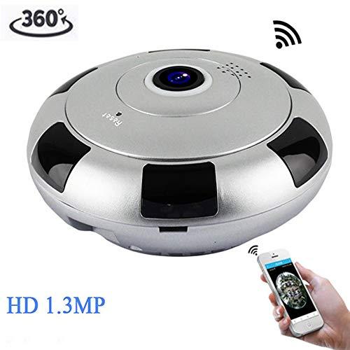 BILLY'S HOME IP-Sicherheit Camera,360 Grad Panorama-Funkkamera WiFi Telefon Fernbedienung HD Two-Way Audio und Night Vision Überwachungskamera, unterstützen IR Day und Night Switch - Auto Für überwachungskamera