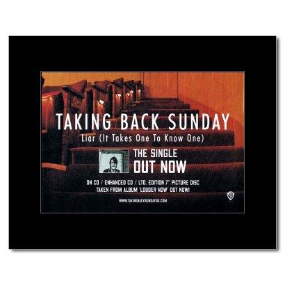 Taking Back Sunday Poster (TAKING BACK SUNDAY - Liar Matted Mini Poster - 21x13.5cm)