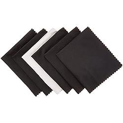AmazonBasics Chiffons en microfibre pour appareils électroniques, Lot de 6