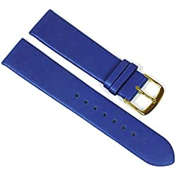 Berlin Replacement Watch Strap Calf Leather Band Blue 23238G Bar Width: 10 mm