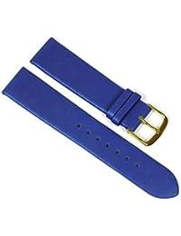 Graf Manufaktur GR-23238-10G - Bracelet pour montre, cuir, couleur: bleu