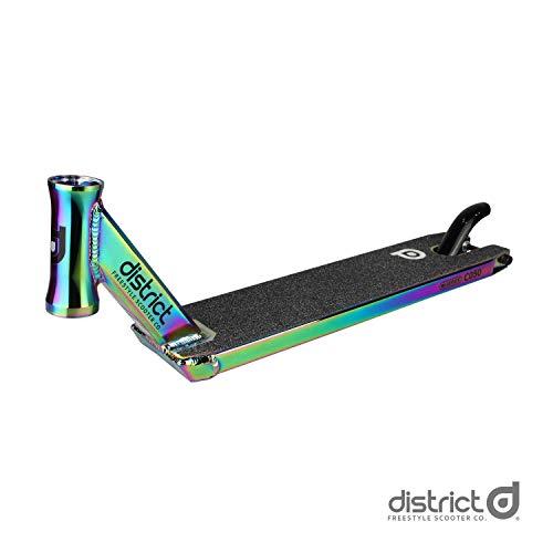 District DK50 Pro Stunt Scooter Deck, 115 x 500 mm, Colour Chrome, 115mm x 500mm
