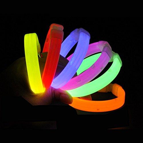 Running Slap Bands 20,3cm Glow in the Dark Armband Arm Band Spaß Safty Spielzeug für Partys Sport Camp Besinnliche Gear, damen unisex Mädchen Herren Jungen, Radom, 25 pieces
