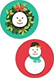 Lovely Collection Christmas Snowman Plastic Fridge Magnets (Set of 2)