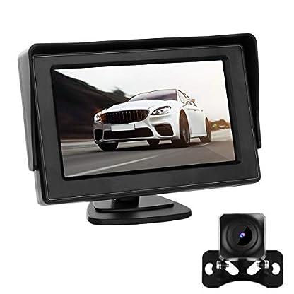 Rckfahrkamera-mit-Monitor-170-Winkel-Superstark-Nachtsicht-IP68-wasserdichte-Backup-AutoKamera-43-Zoll-LCD-Monitor-fr-Einparkhilfe-Rckfahrhilfe