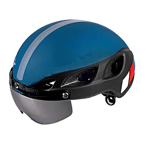 QUILT FAFY Fahrradhelme Fahrradhelm 6 Air Vents Ultralight EPS + PC Integral Geformter MTB Rennradhelm Unisex M L,Blue-L