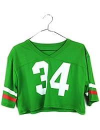 Uissos Camiseta Futbol Americano para Mujer diseño Estampado número 34  Talla ... acfaaf16804c0