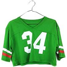 2de0c2678d421 Uissos Camiseta Futbol Americano para Mujer diseño Estampado número 34  Talla ...