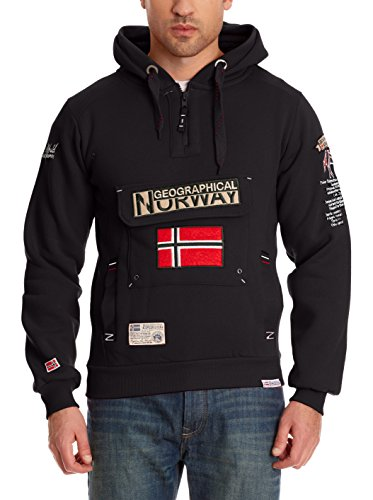 Geographical Norway Kapuzensweatshirt Gymclass Schwarz Matt
