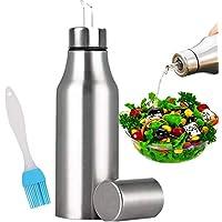 Nifogo Botella de Aceite - Vinagrera/aceitera de Acero Inoxidable, Dispensador de Aceite y Vinagre para Cocina, Dispensador de Condimentos Líquidos (1PCS, 750ML)
