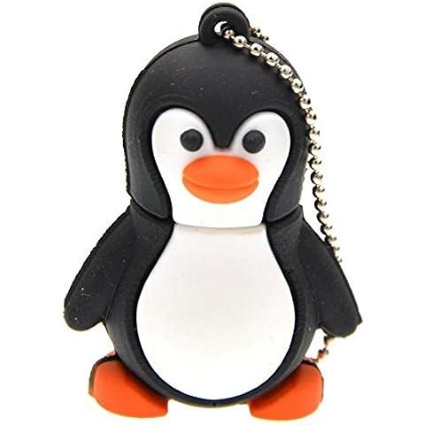 FEBNISCTE 32GB USB 3.0 Pendrive Forma de Pingüino Almacenamiento Externo