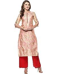 Janasya Women's Chanderi Cotton Kurta