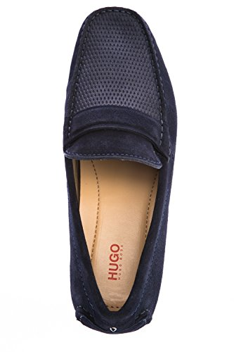 BOSS Dandy Mocc Shoe in Navy Bleu