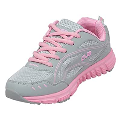 Columbus Women's Angel Grey And Pink Running Shoes - UK 7