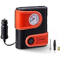 Compresor de Aire Portátiles auto, Mini bomba de aire portátil con dispositivo de medición incorporado