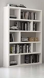 Bibliothèque étagère DUBLIN 10 casiers blanc mat