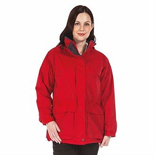 Frauen-Darby II Jacke Klassisches Rot / Grau Siegel