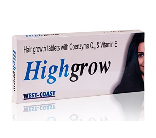 Highgrow Hair Supplement (Biotin, CoQ-10 & Vitamin E) 10 tablets