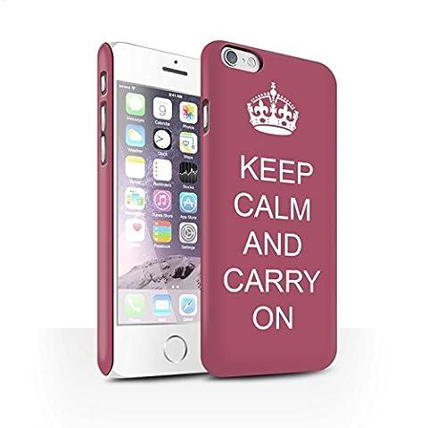 Carcasa/Funda Broche de Presión en para el Apple iPhone 6S / serie: Mantén la Calma -