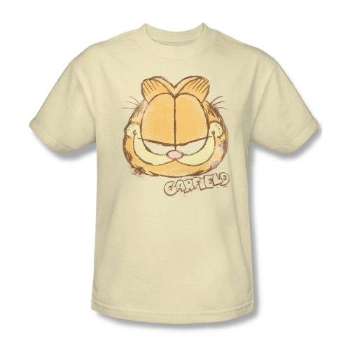 Garfield - Herren Water Color Cat T-Shirt in der Creme Cream