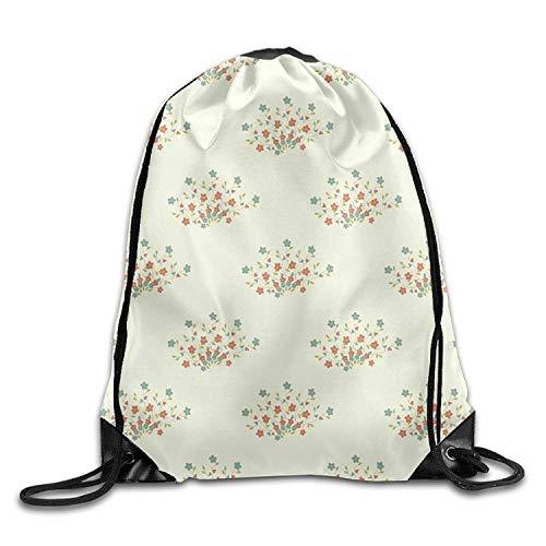 Flower Essential Tote Bag (Sporttasche mit Kordelzug, Sportrucksack, Reiserucksack, Gym Drawstring Bags Flower Seamless Pattern Draw Rope Shopping Travel Backpack Tote Student Camping Beam)