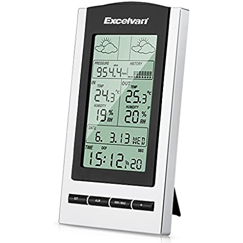 EXCELVAN Wireless Stazione Meteo Digitale - Monitor Indoor & Outdoor