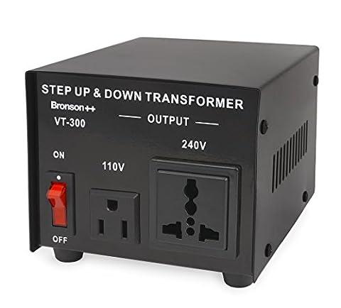 Bronson++ VT 300 Watt Transformateur / USA 110 Volt Converter / Convertisseur de tension 110 /120 V - 220 / 240 V réversible 300W - Bronson