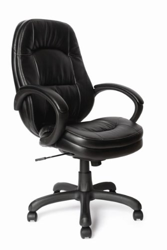 High Back Executive, effetto pelle, colore: (Pelle Reception Nero Sedia)